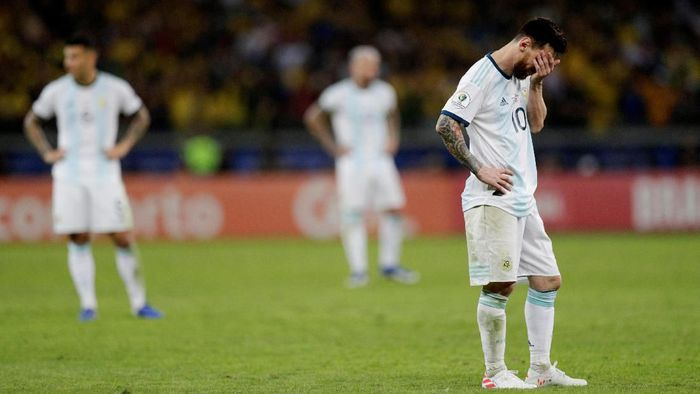 Ambisi Lionel Messi meraih gelar juara bersama Argentina mesti kandas lagi. (Foto: Ueslei Marcelino / Reuters)