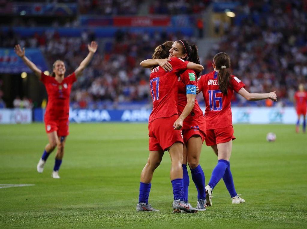 Tumbangkan Inggris, AS ke Final Piala Dunia Wanita