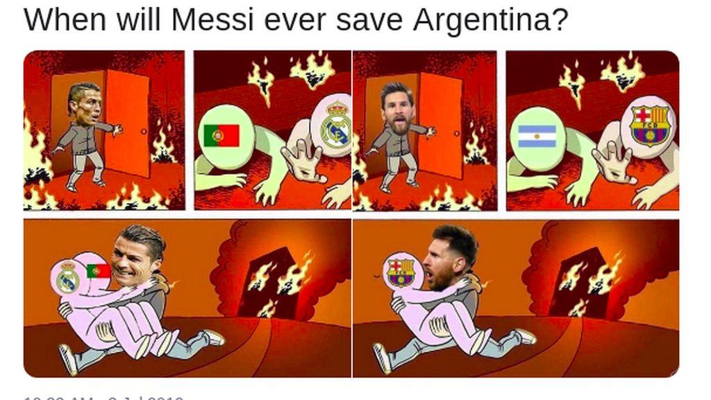 Lelucon Lionel Messi Usai Argentina Disingkirkan Brasil