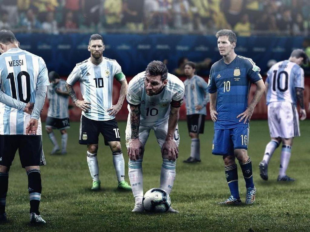 Argentina Kalah dari Brazil, Messi Jadi Korban Meme Kocak