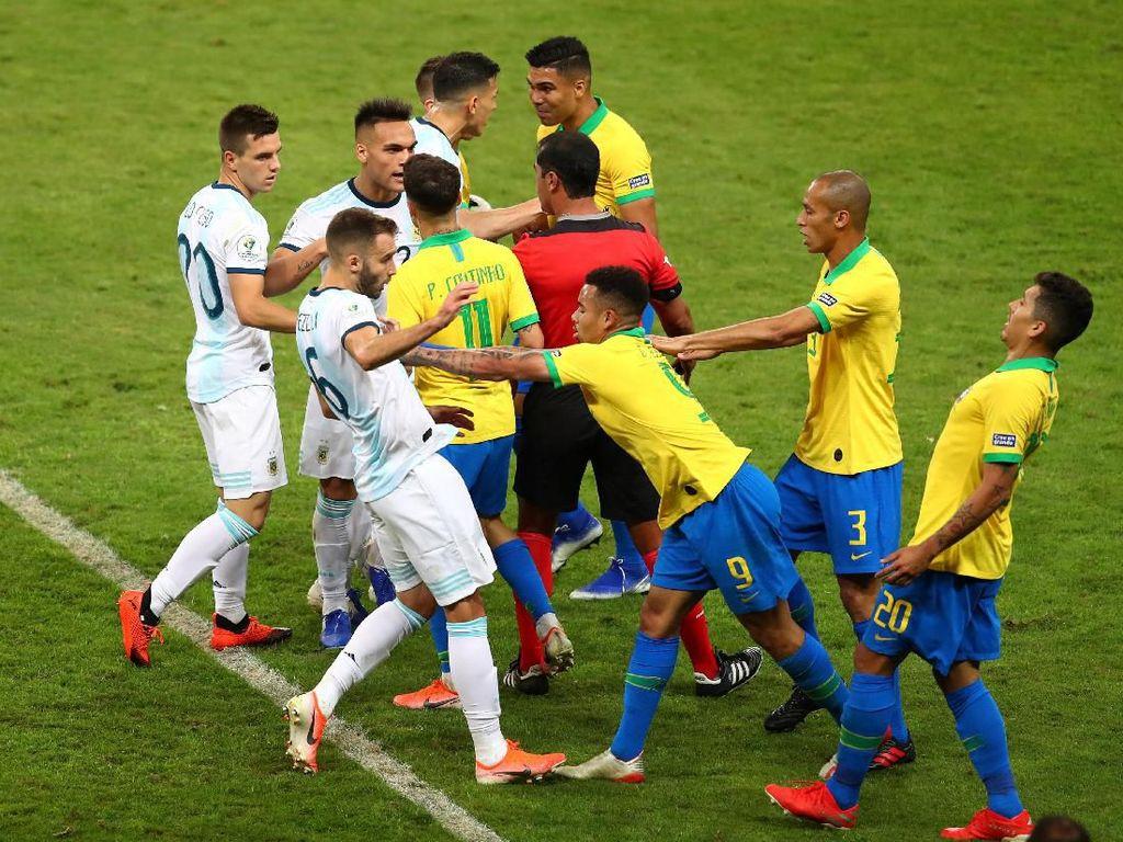 Drama VAR Brasil Vs Argentina Memanas