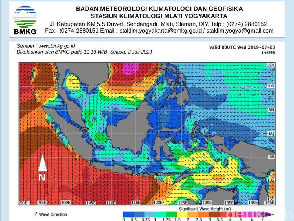 Badai di Laut Cina Selatan Picu Gelombang Tinggi Pantai Selatan Yogya