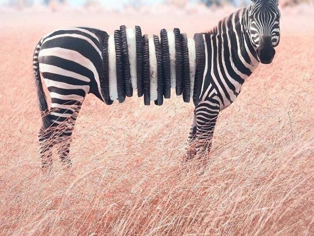 Viral! Editan Foto Ini Menggabungkan Tubuh Hewan dan Makanan dalam Satu Frame