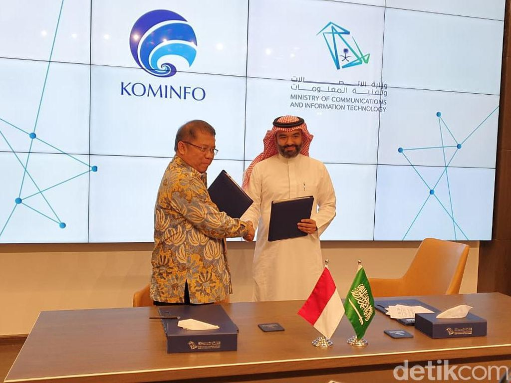 Sah! Indonesia-Arab Saudi Teken MoU Kolaborasi Digital