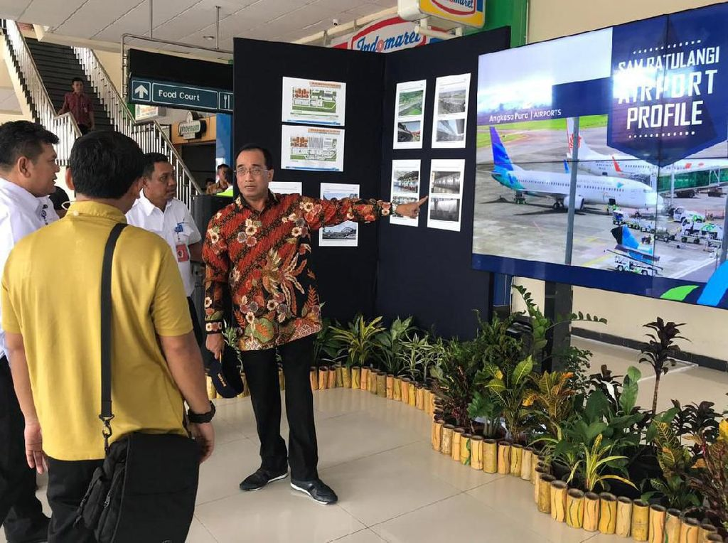 Menhub Tinjau Fasilitas Bandara Sam Ratulangi