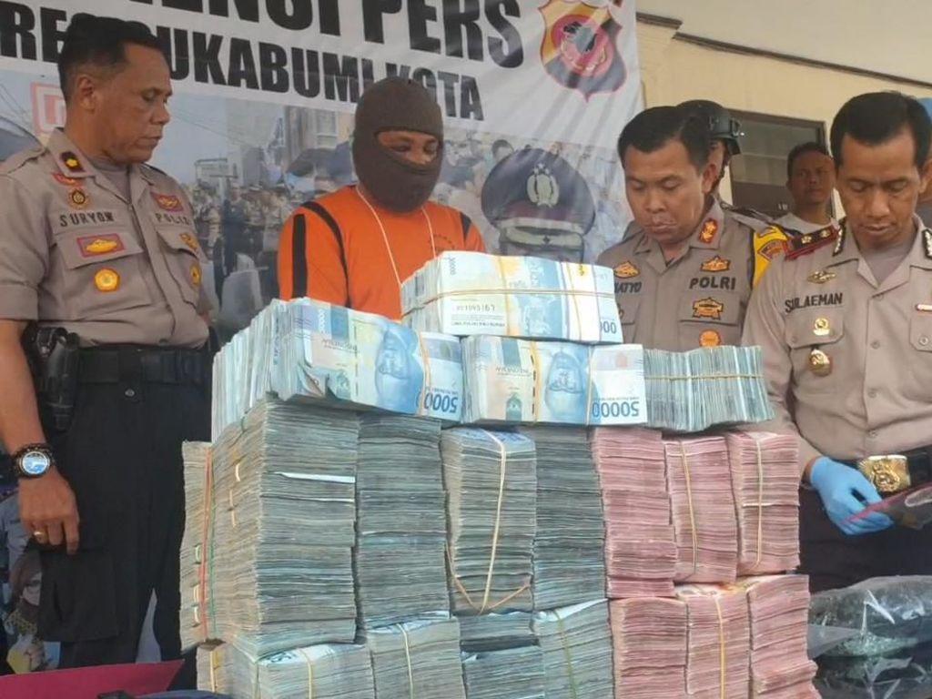 Akhir Pelarian Pencuri Duit Rp 1,2 M Milik Bos Ikan di Sukabumi
