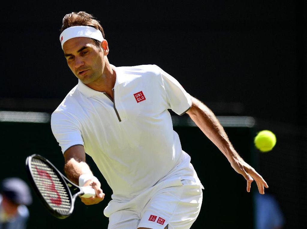 Singkirkan Wakil Tuan Rumah, Federer Maju ke Babak Ketiga Wimbledon