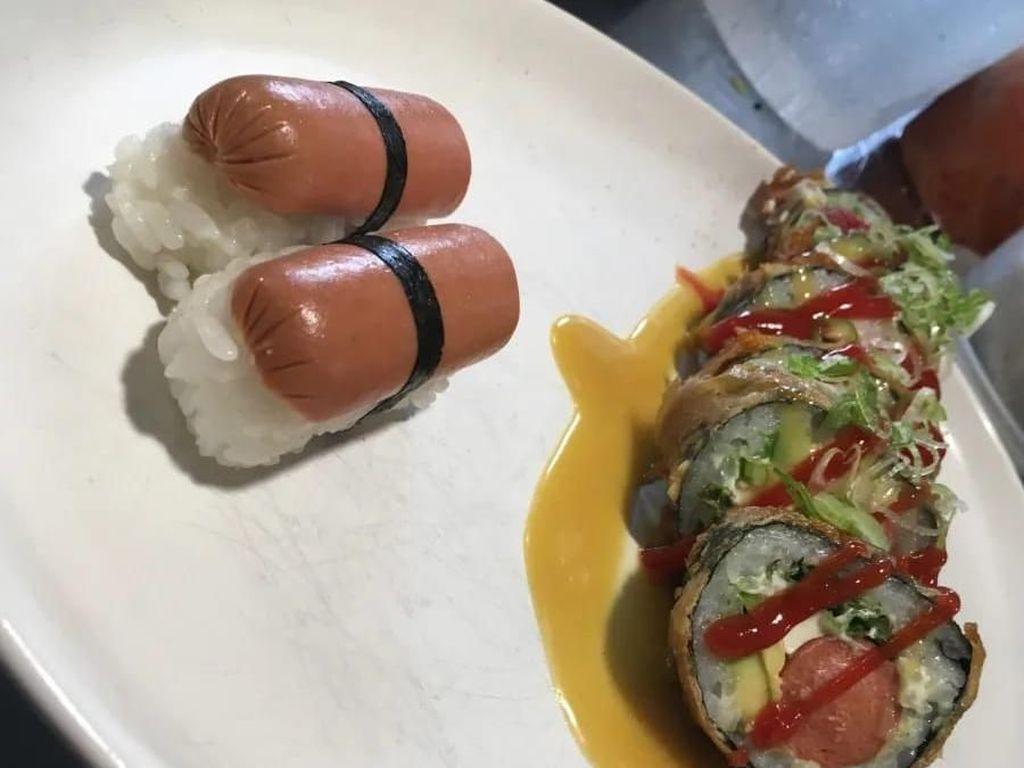10 Kreasi Sushi Aneh yang Bikin Kamu Geleng-geleng Kepala