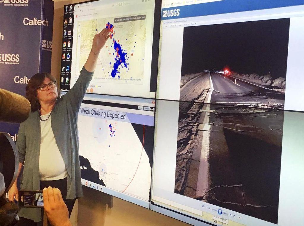 Video California Diguncang Gempa Lagi, Kali Ini Bermagnitudo 7,1