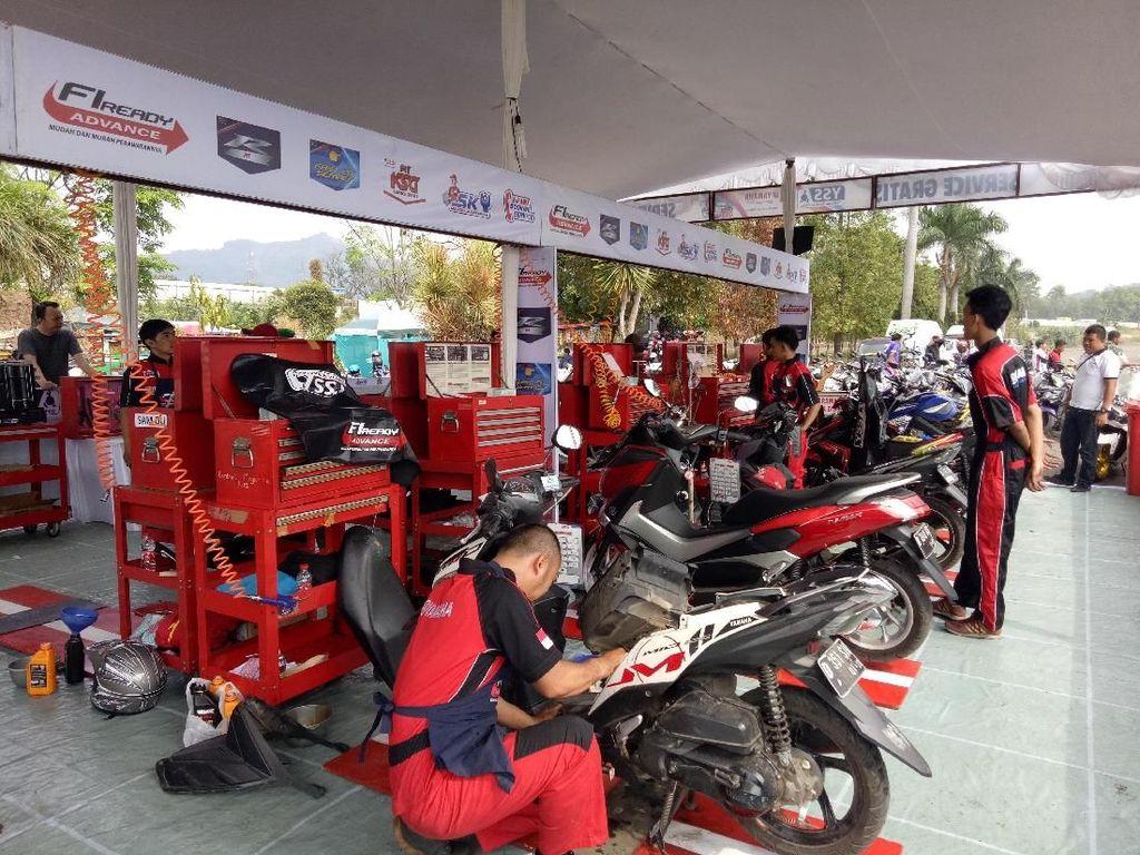 Liburan Weekend di Cimahi, Yuk Servis Motor Gratis di Sini