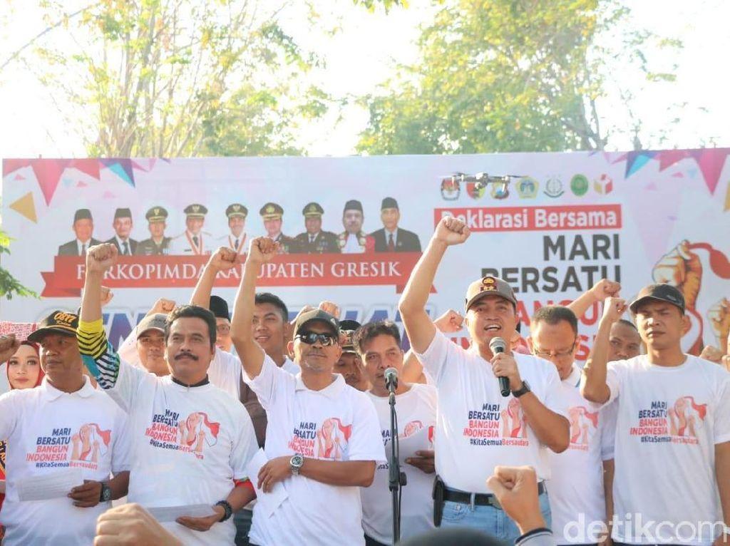 Pemilu Rampung, Warga Gresik Diajak Rajut Keguyuban