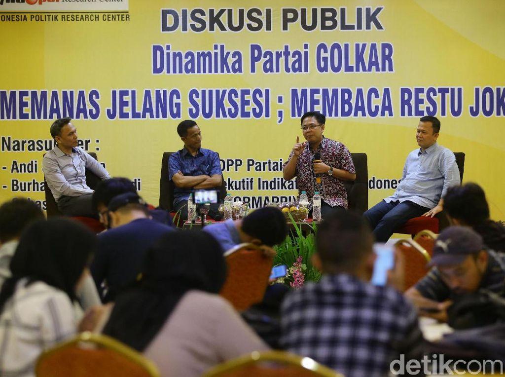 Diskusi Partai Golkar Soal Restu Jokowi