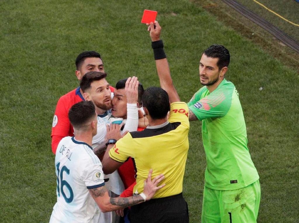Kartu Merah Kedua Sepanjang Karier Messi