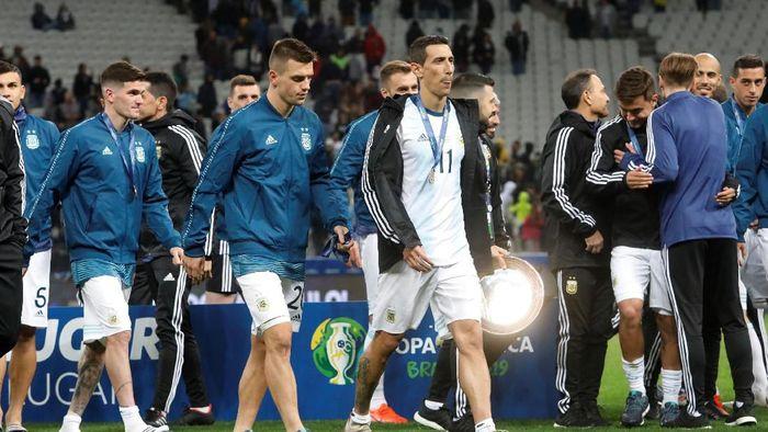 Argentina finis di posisi ketiga pada ajang Copa America 2019. (Foto: Amanda Perobelli/Reuters)