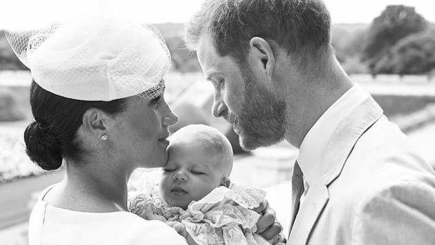Meghan Markle, Archie, dan Pangeran Harry/