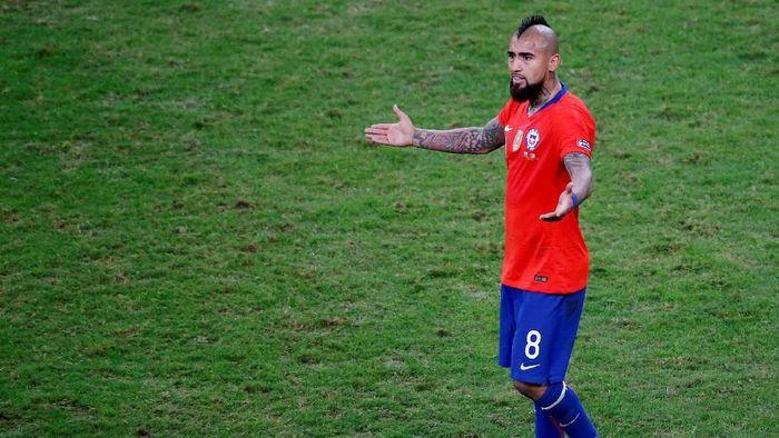 Arturo Vidal juga mengkritik Copa America 2019 (Foto: Luisa Gonzalez/Reuters)