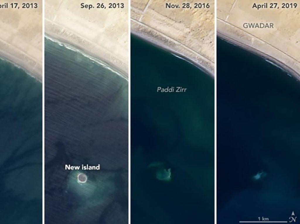 Penampakan Pulau Tenggelam yang Dipotret NASA