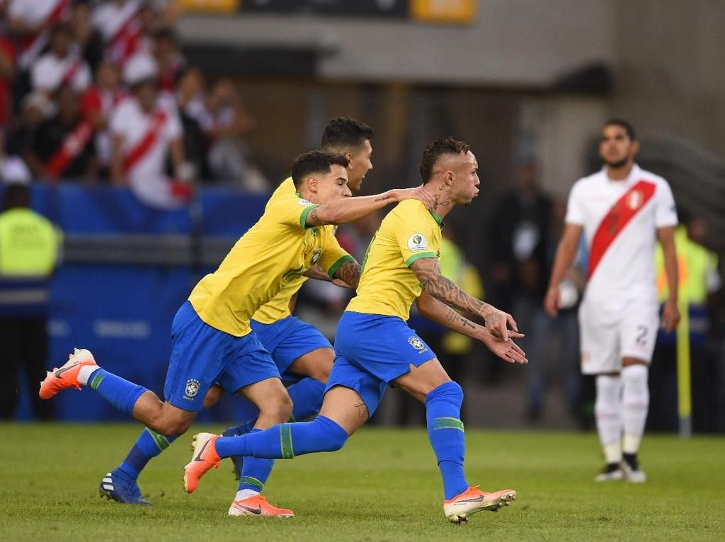 Hasil Brasil vs Peru: Menang 3-1, Tim Samba Juara Copa America 2019