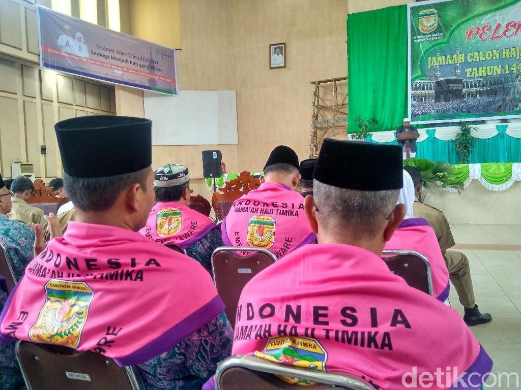 Masa Tunggu 8 Tahun, 265 Jemaah Haji Asal Mimika Papua Diberangkatkan
