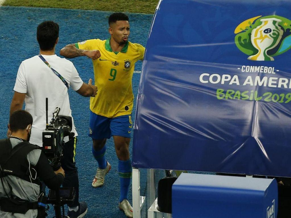 Seperti Messi, Gabriel Jesus Juga Dihukum CONMEBOL