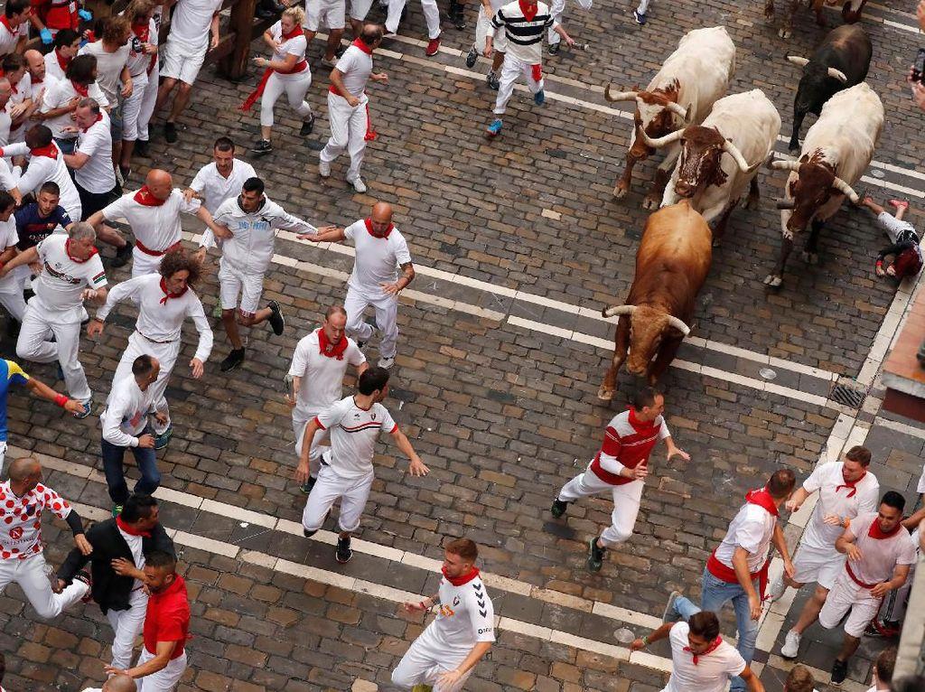 Berlari Menghindari Banteng di Festival San Fermin Spanyol