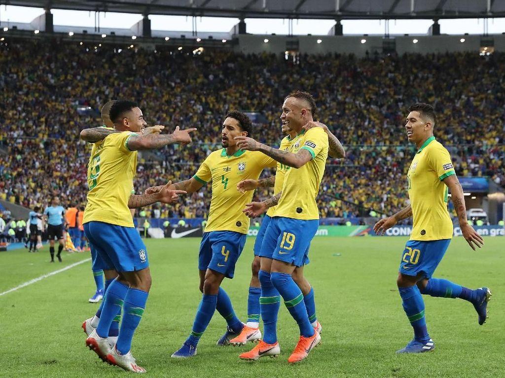 Brasil vs Peru: Selecao Unggul 2-1 di Babak Pertama