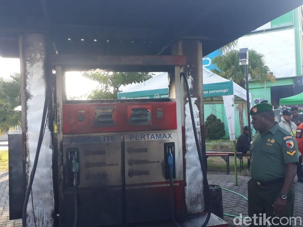 SPBU Mini di Ponorogo Terbakar, Pemilik Terluka