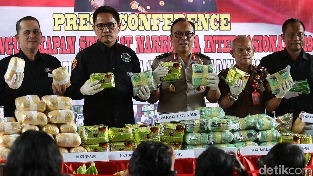 Penampakan 177,5 Kg Sabu yang Dimusnahkan Polri