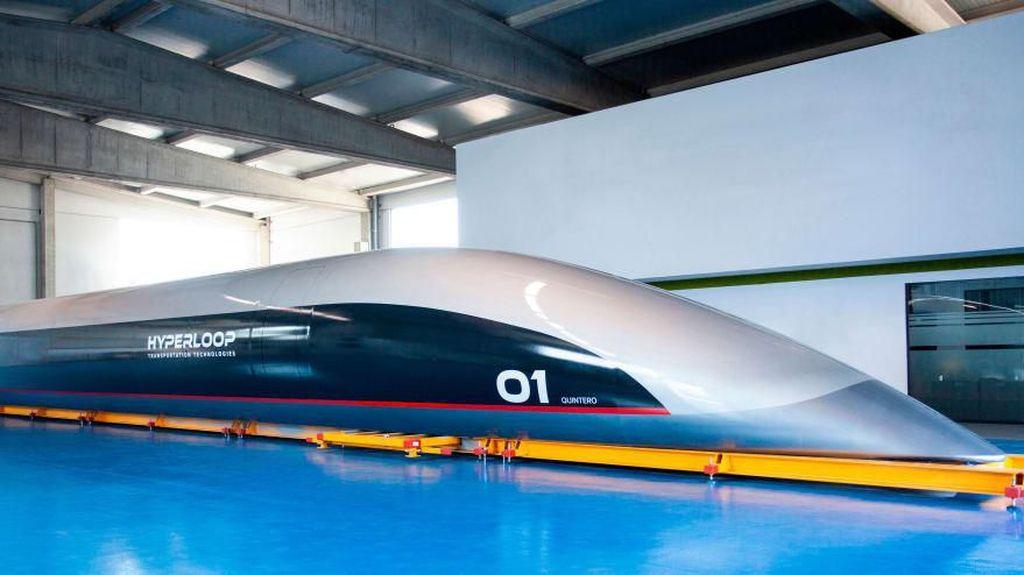Foto Desain Hyperloop, Kereta Super Cepat Level Dewa