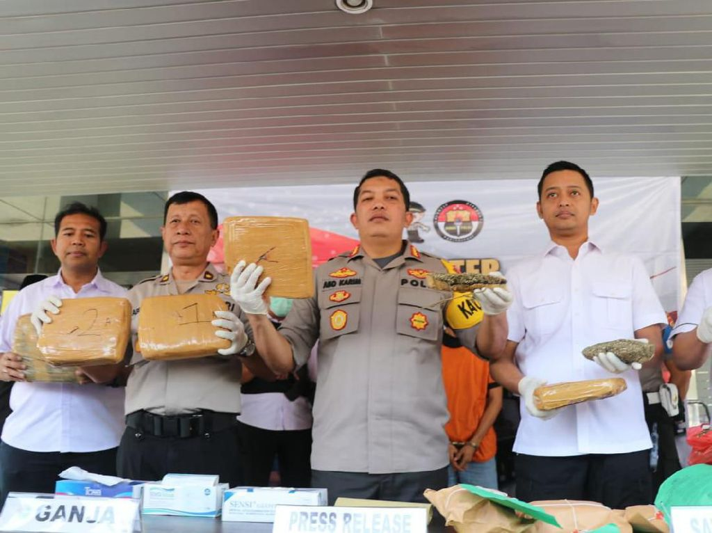 Polisi Gagalkan Penyelundupan 8 Kg Ganja dari Jaringan Lampung