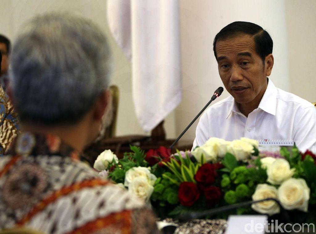 Jokowi-Ganjar Pranowo Bahas Ekonomi Jateng