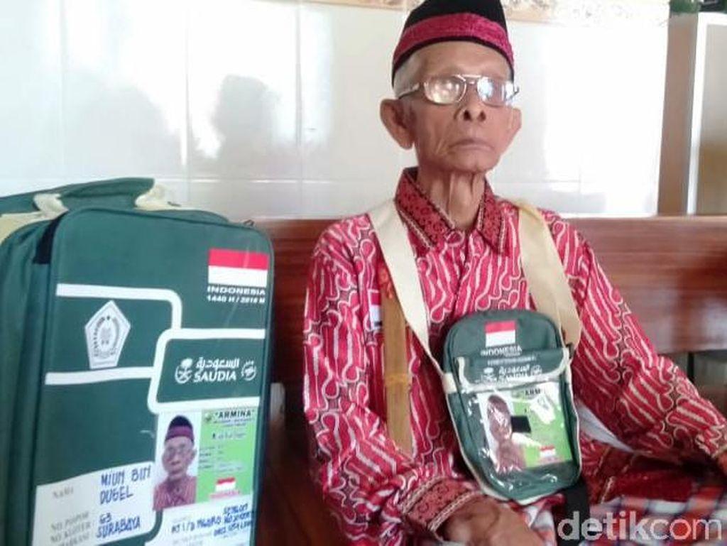 Penantian Miun Rajin Siapkan Fisik Jadi Haji Tertua di Mojokerto