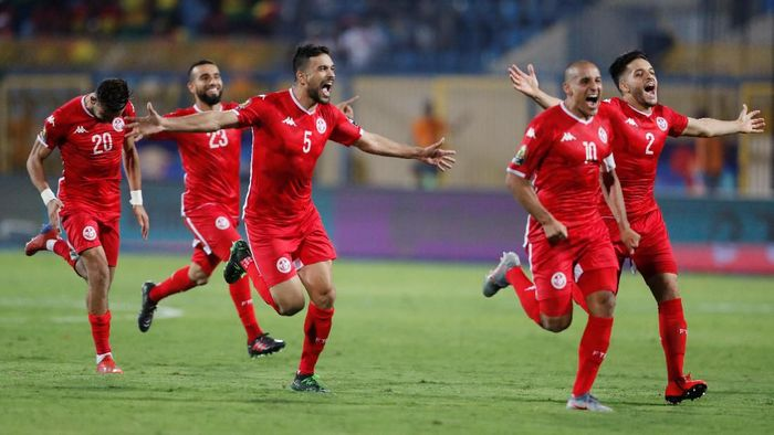 Tunisia lolos ke perempatfinal Piala Afrika 2019. (Foto: Abdallah Dalsh/Reuters)