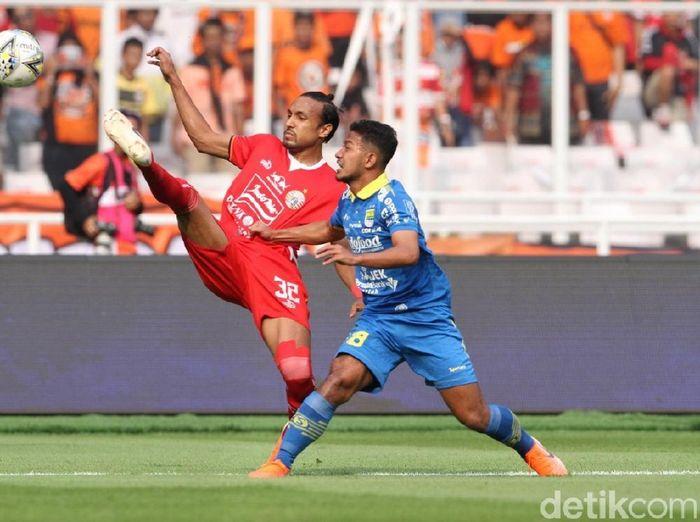 Persija Jakarta vs Persib Bandung di pekan ketujuh Liga 1 2019 berakhir imbang 1-1. (Foto: Rifkianto Nugroho/detikSport)