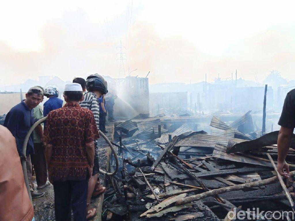 Kebakaran di Kertapati Palembang Padam, 70 Rumah Terbakar