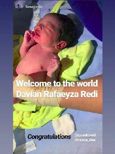 Arti Nama Anak Kedua Ryana Dea, Davian Rafaeyza Redi