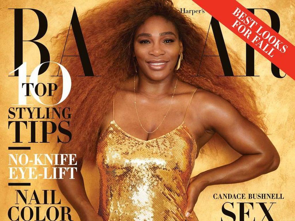 Serena Williams Pamer Bokong Tanpa Edit di Majalah Bikin Heboh Netizen