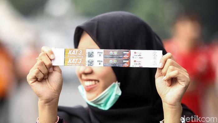 Tiket Tira Persikabo vs Persija Jakarta dinilai kemahalan. (Rifkianto Nugroho/detikSport)