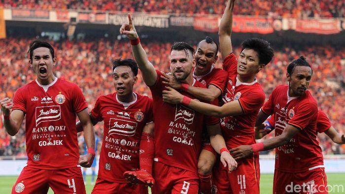 Persija Jakarta dan Marko Simic didukung bek Liverpol Dejan Lovren memenangi Piala Indonesia. (Foto: Rifkianto Nugroho/detikSport)