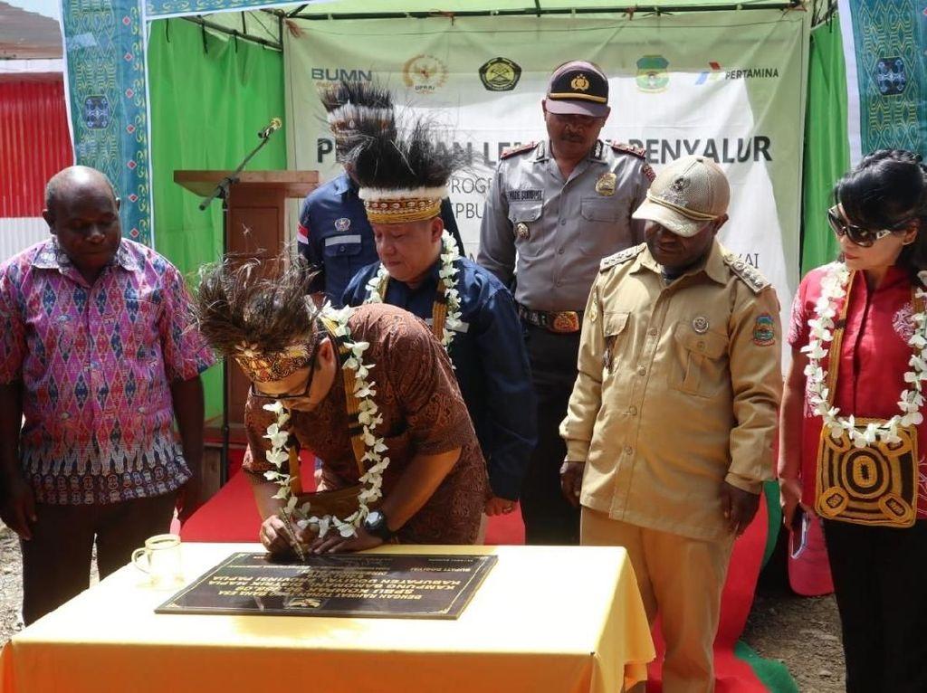 Hadirkan BBM Satu Harga, Pertamina Resmikan SPBU di Dogiyai Papua