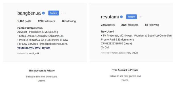 Rey Utami-Pablo Benua Privasi Akun Instagram, Takut?