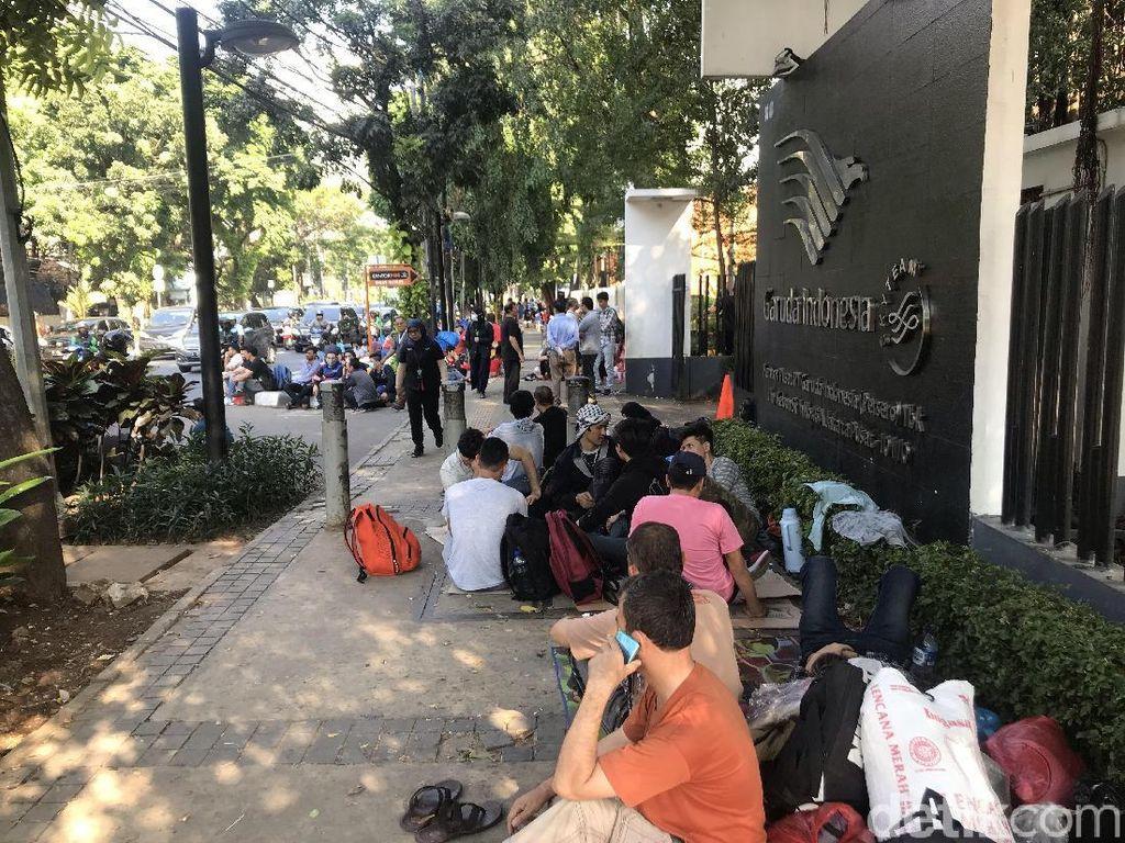 Pencari Suaka Masih di Kebon Sirih, Belum Pindah ke Islamic Center