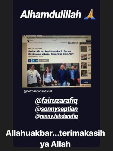 Instagram Story Fairuz A. Rafiq