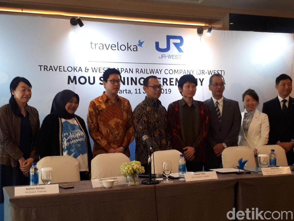 Traveloka Jalin Kerja Sama dengan Perusahaan Kereta Jepang JR West
