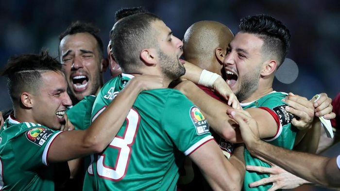 Aljazair ke semifinal Piala Afrika 2019. (Foto: Suhaib Salem / Reuters)