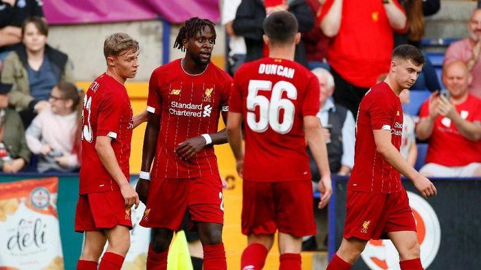Liverpool bantai Tranmere Rovers 6-0 pada laga pramusim perdananya (Jason Cairnduff/Reuters)
