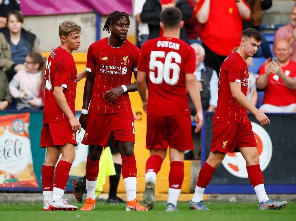 Laga Ujicoba: Liverpool Bantai Tranmere Rovers 6-0