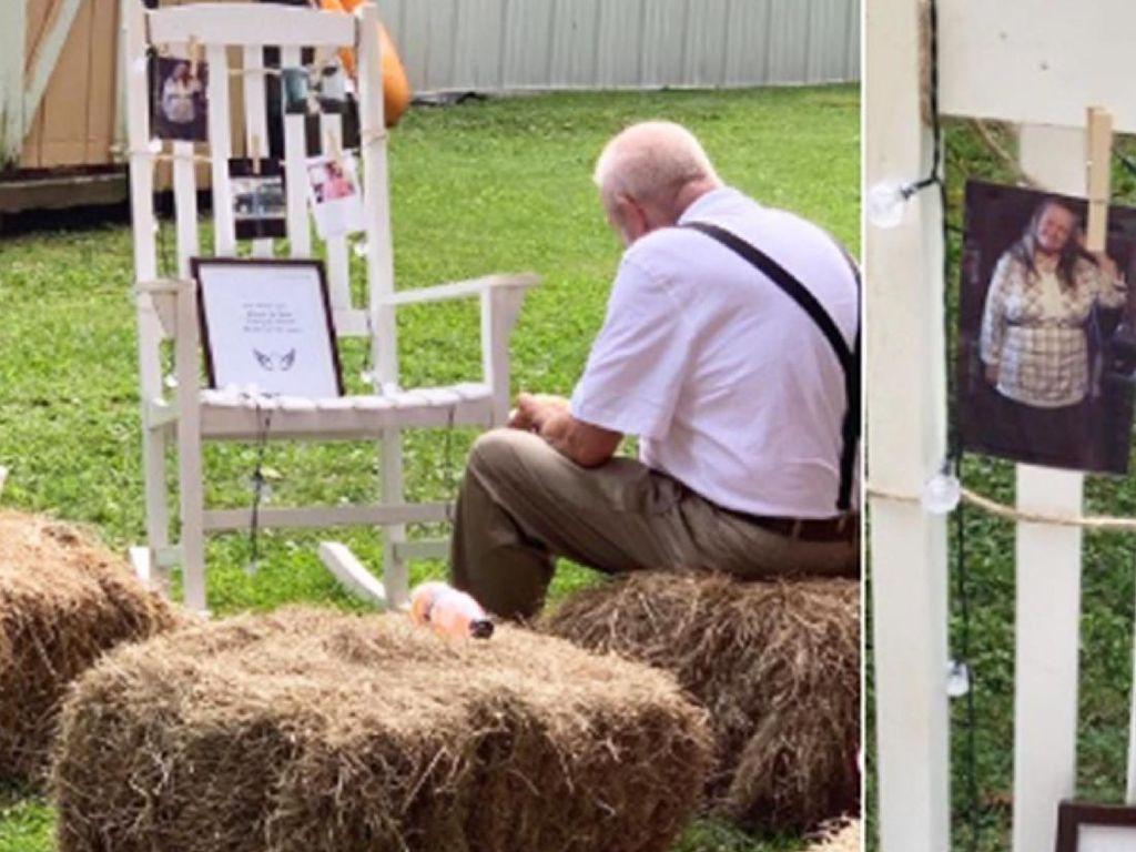 Bikin Haru! Kakek Ini Makan di Depan Kursi Kosong Berhias Foto Mendiang Istrinya