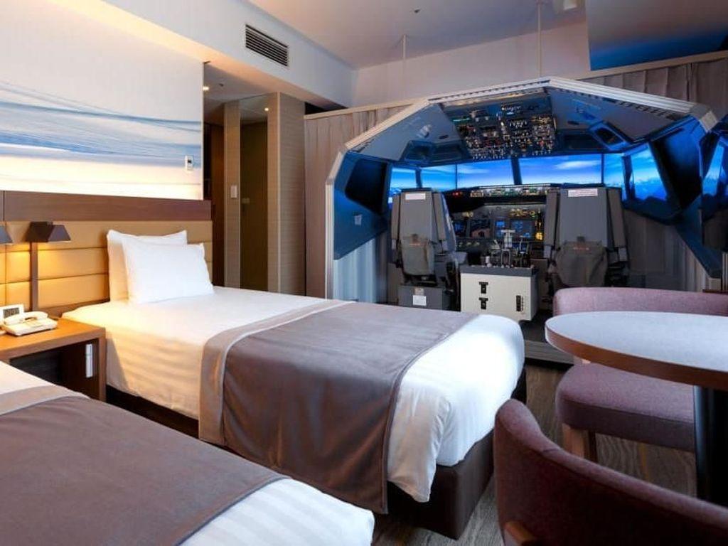 Pertama di Dunia, Kamar Hotel dengan Simulator Pesawat