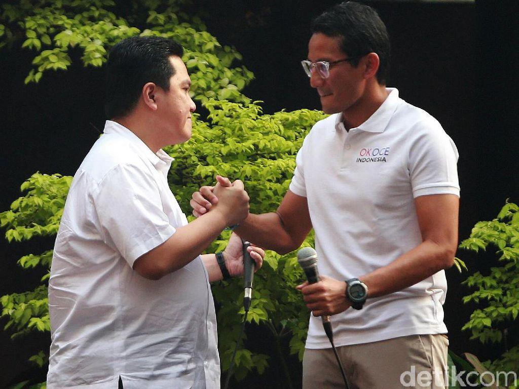 Sandiaga Uno-Erick Thohir Sering Ngobrol Via WA, Soal Apa Sih?